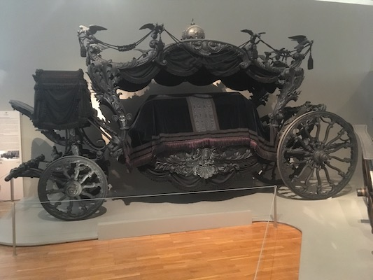 Sissi's funeral carriage in the Imperial Carriage Museum in Schonbrunn