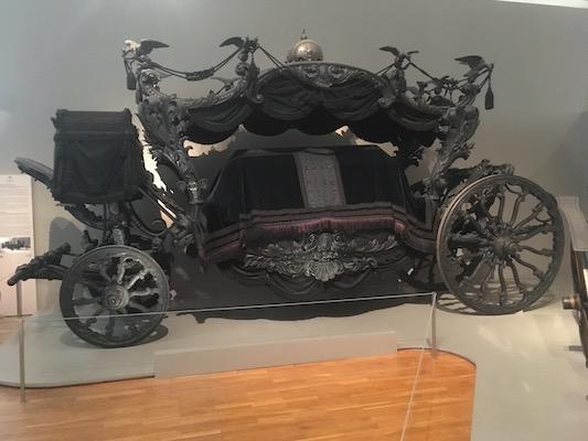 Carro Funebre di Sissi nel Museo delle Carrozze di Schonbrunn