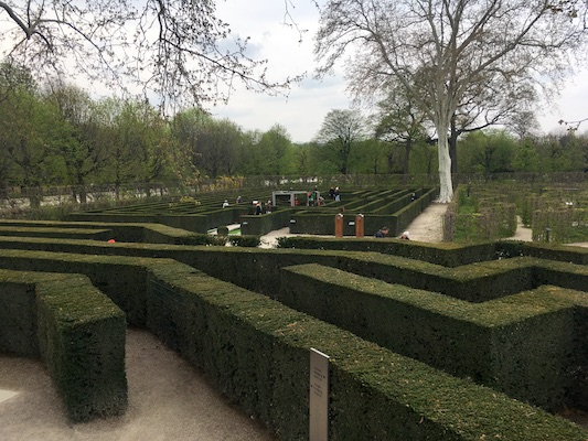 The maze of Schonbrunn Park