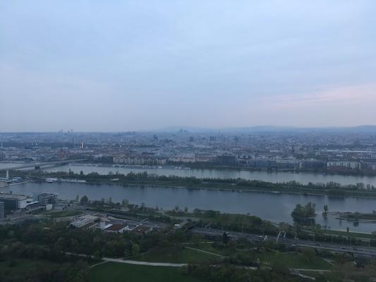 Panorama dalla Torre del Danubio
