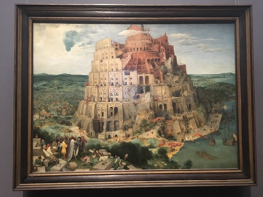 The Tower of Babel by Bruegel in the Museum of Art History