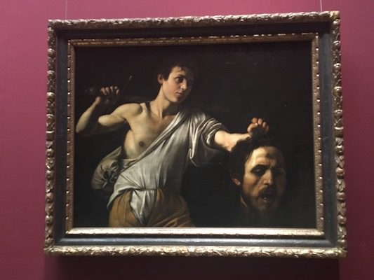 David with the Head of Goliath by Caravaggio in the Museum of Art History