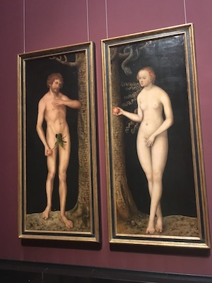 Adam and Eve by Durer in the Museum of Art History