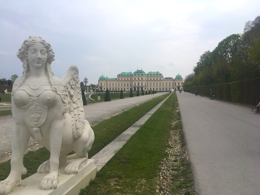 The Belvedere, one of the main tourist attractions in Vienna