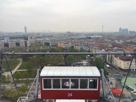 The view from the Ferris wheel of Prater in Vienna