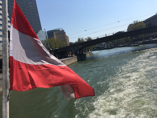 Danube cruise in Vienna