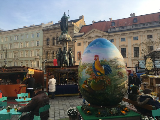 The Easter Market in Freyung in Vienna