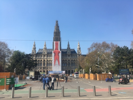 The Rathaus, the City Hall in Vienna
