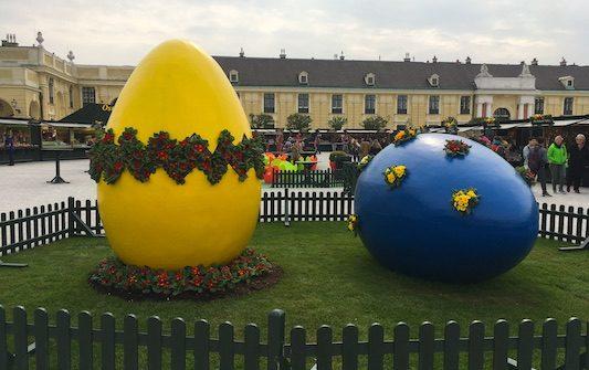 Mercato di Pasqua a Schonbrunn a Vienna