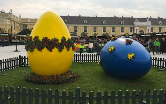 The Easter Market of Schonbrunn in Vienna