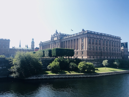 Il Parlamento Svedese sull'isola Helgeandsholmen di Stoccolma