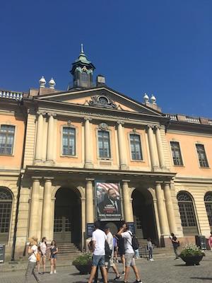 Facciata del Museo del Premio Nobel di Stoccolma