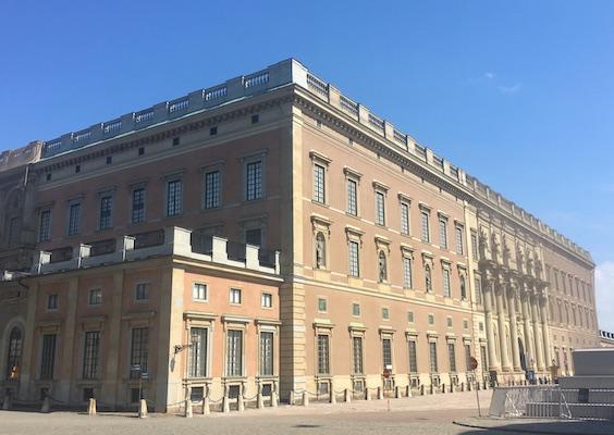 Facciata del Palazzo Reale di Stoccolma