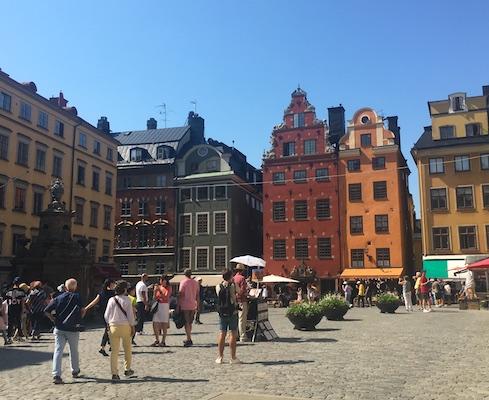 Casette colorate di Stortorget