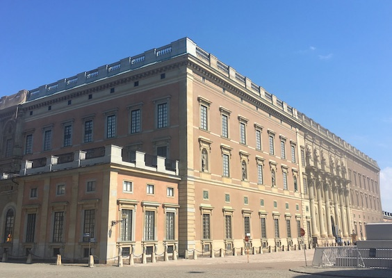 Facade of the Royal Palace of Stockholm