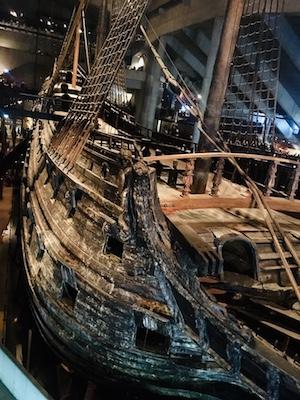 Vasa shipwreck in the Vasa Museum