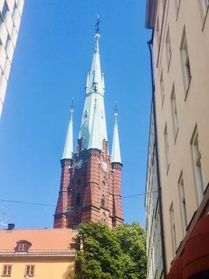 Bell tower of Klara Church in Stockholm