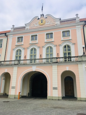 Facade of the Parliament of Estonia in Toompea