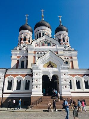 Facade of Alexander Nevsky Cathedral in Tallinn