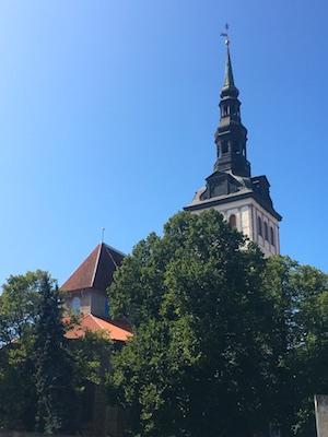 The tower of Saint Nicholas Church in Tallinn