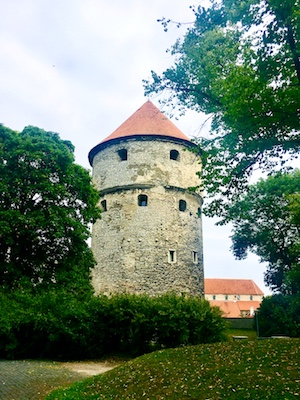 One of the iconic towers of Tallinn