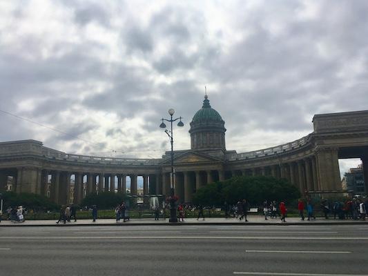 Facciata della Cattedrale di Kazan