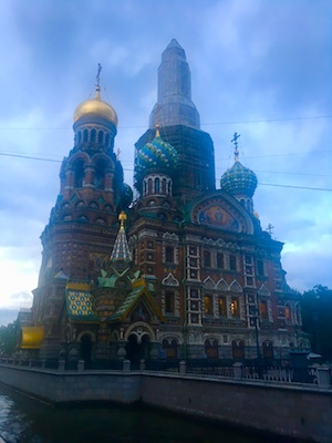 View of the Church of the Savior on Spilled Blood