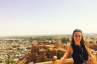 Things to do in Jaisalmer: view of the fort from Jaisalmer Palace