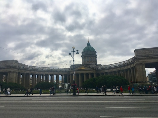 View of Kazan Cathedral and its columns