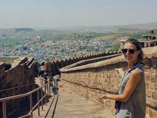 Things to do in Jodhpur: view of the blue city from Mehrangarh Fort