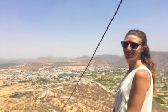 Things to do in Pushkar India: view of the city from Savitri Temple