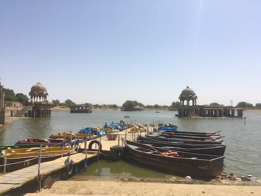 Boats on Gadisar Lake