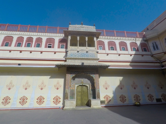 Lotus Gate in the City Palace of Jaipur