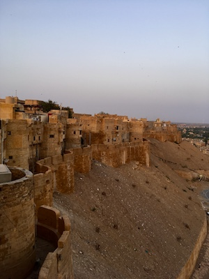 Sunset from the bastions of Jaisalmer Fort
