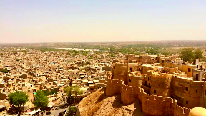 View of Jaisalmer from the Royal Palace