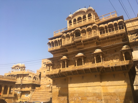 Facade of the Royal Palace in Jaisalmer Fort