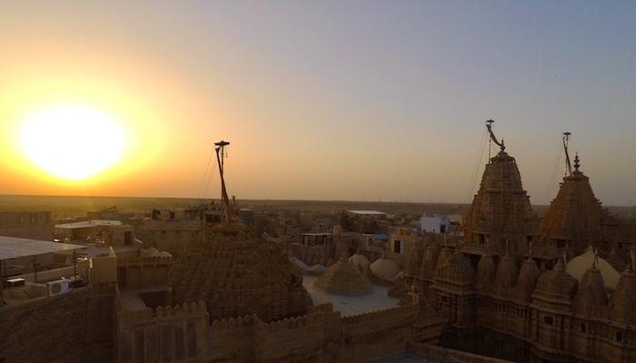 Sunset view of Jaisalmer