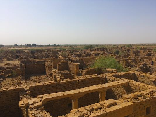 Ruins of the abandoned village of Kuldhara