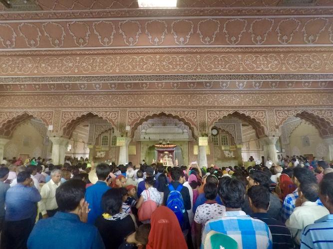 Crowd of people at Govind Dev Ji