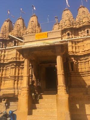 Entrance to Chandraprabhu, one of Jain Temples of Jaisalmer
