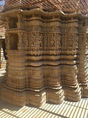 Carvings of pillars in Jain Temples of Jaisalmer