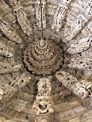 Carvings of a ceiling in Jain Temples of Jaisalmer