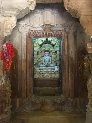 One of the white marble statues of Jain Temples