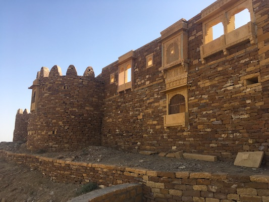 Khaba Fort in the Thar Desert
