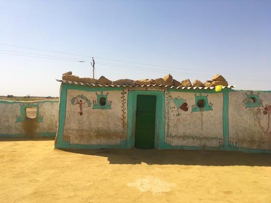 A local village in the Thar Desert