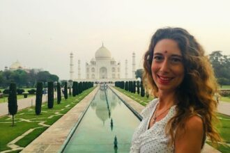With the Taj Mahal in Agra, the city of one of the New Seven Wonders of the World