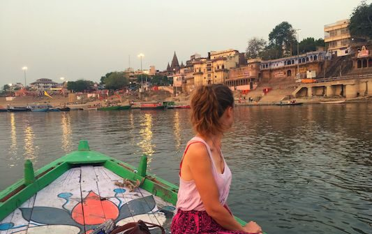 Ghats from the boat, one of the things to do in Varanasi