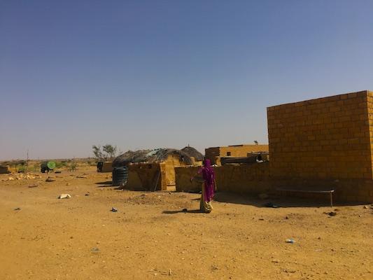 Le baracche nel Deserto del Thar in India