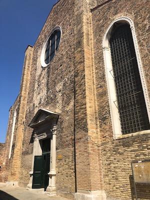 Facciata di Chiesa di San Pietro Martire a Burano