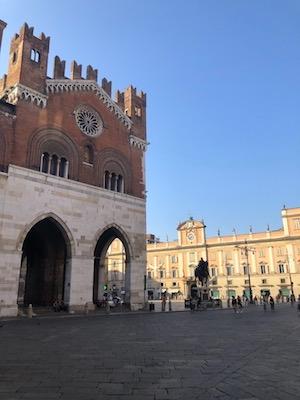 Veduta di Piazza Cavalli a Piacenza